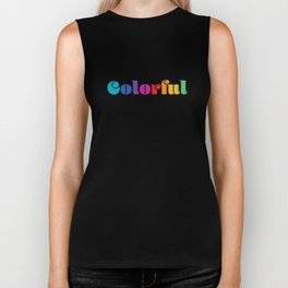 Colorful Biker Tank