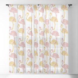 Adelaide Flamingo Sheer Curtain