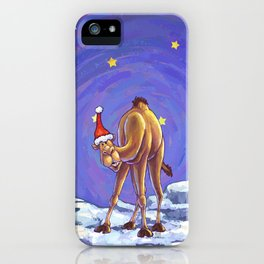 Camel Christmas iPhone Case