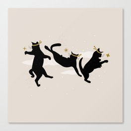 Ninja Cats I. Canvas Print
