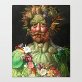Rudolf II as Vertumnus by Giuseppe Arcimboldo, 1591 Canvas Print