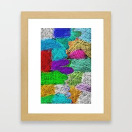 Filling with colors Framed Art Print