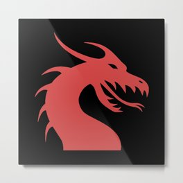 Dragon Head Red Metal Print