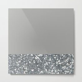 Glitter Colorblock Metal Print