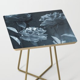 Blue Peonies Side Table