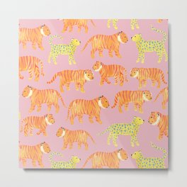 Pink Tigers Metal Print