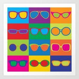 Pop Art Eyeglasses Art Print