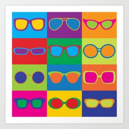 Pop Art Eyeglasses Art Print
