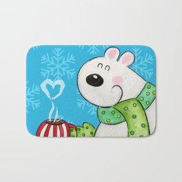 Hot Cocoa Polar Bear Bath Mat