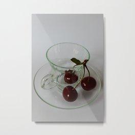 three cherries Metal Print