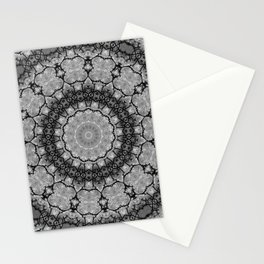 Black and White Lace Mandala A541B Stationery Cards