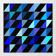 Blue Triangle Pattern (2013) Canvas Print