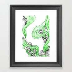 FANTASIA VERDE Framed Art Print