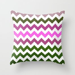 Pink Roses in Anzures 1 Chevron 1 Throw Pillow