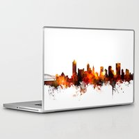 tennessee Laptop & iPad Skins featuring Memphis Tennessee Skyline by artPause
