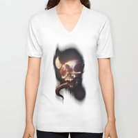 nightmare V-neck T-shirts featuring Nightmare by Rudolf Odobasic