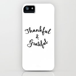 Grateful Lettering iPhone Case