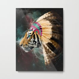 Fight For What You Love (Chief of Dreams: Tiger) Tribe Series Metal Print