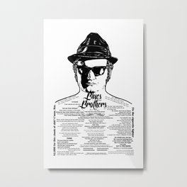 Jake Blues Brothers 'Four Fried Chicken' Metal Print
