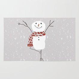 Snowman yoga - the tree Rug