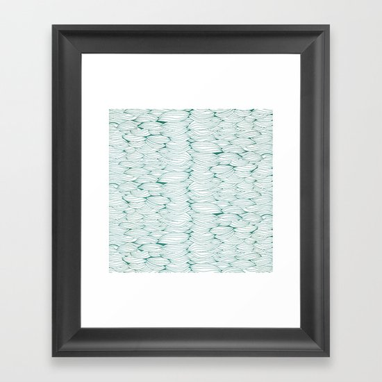 Dancing Feathers Framed Art Print