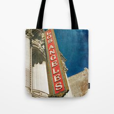 1931 Los Angeles Theatre Vintage Sign Tote Bag