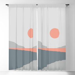 Abstract Landscape 01 Blackout Curtain