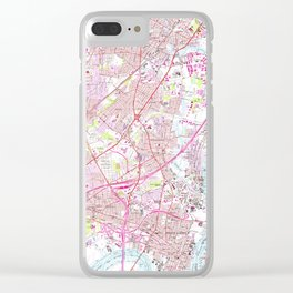 Old Perth Amboy, Rahway & Metuchen NJ Map (1956) Clear iPhone Case