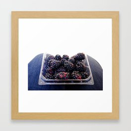 Blackberries Framed Art Print
