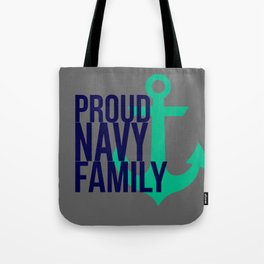 Proud Navy Family Tote Bag