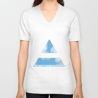 30 seconds to mars V-neck T-shirts featuring MARS ARMY by The Fashion Graphic