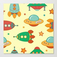 outer space Canvas Prints featuring Outer space by olillia
