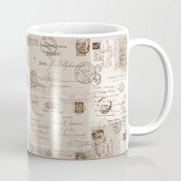 Old Letters Vintage Collage Coffee Mug