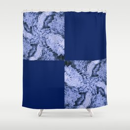 Season of the Square - Sapphire Check Shower Curtain
