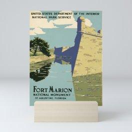 Fort Marion National Monument, St. Augustine, Florida Mini Art Print