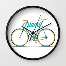 Miami Typo - Bike Wall Clock