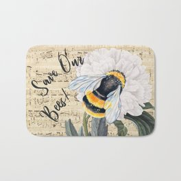 Save The Bees Collage Bath Mat