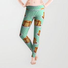 Pancakes & Dots Pattern Leggings