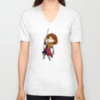 castlevania V-neck T-shirts featuring I break in like a belmont!!! by Laharl
