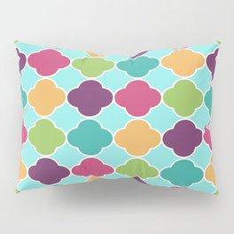 Vivid Moroccan Quatrefoil Pillow Sham