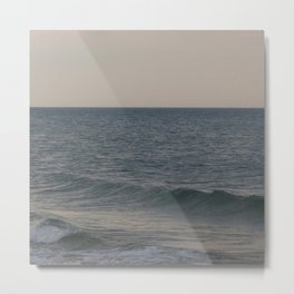 Breakers // Lake Michigan Waves Photography Metal Print