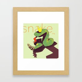 Snake king Framed Art Print