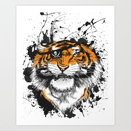 TigARRGH!! (Orange) Art Print