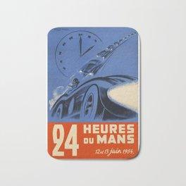 1954 Le Mans poster, Race poster, car poster, Bath Mat