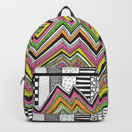 Stripes and Zig Zags Backpack