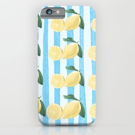 Lots of Lemons Pattern iPhone Case