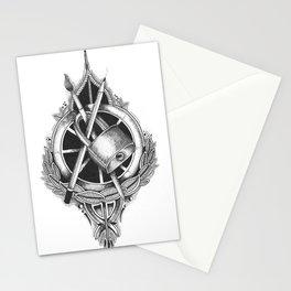 Padlocks, Pencils and Paintbrushes Stationery Cards