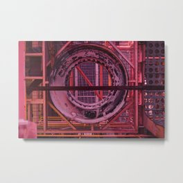 Cherry Donut Metal Print
