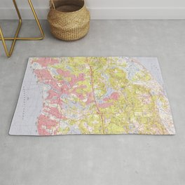 Dennis and Yarmouth Massachusetts Map (1974) Rug