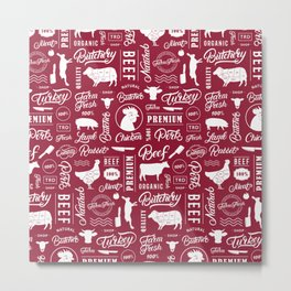 Butchery Meat Lovers Metal Print